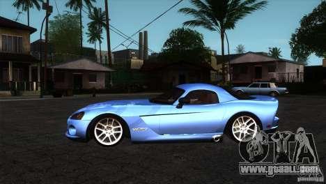 Dodge Viper SRT10 Stock for GTA San Andreas left view