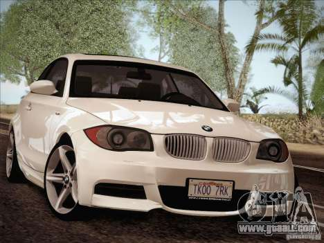 BMW 135i for GTA San Andreas