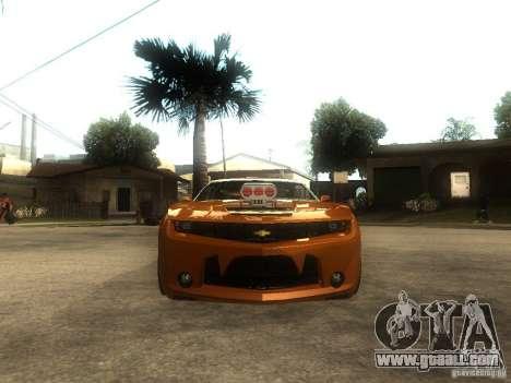 Chevrolet Camaro SS Dark Custom Tuning for GTA San Andreas