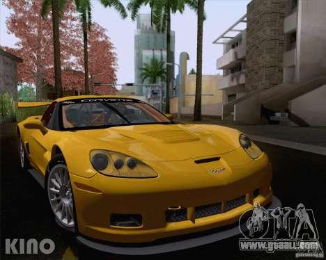 Chevrolet Corvette C6 Z06R GT3 v1.0.1 for GTA San Andreas back view