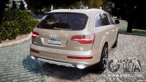 Audi Q7 V12 TDI Quattro Stock  v2.0 for GTA 4 back left view