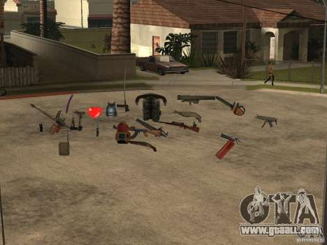 Weapons for GTA San Andreas third screenshot