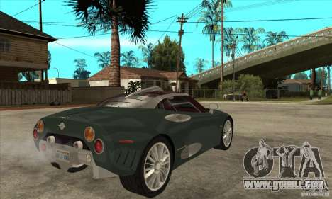 Spyker C8 Laviolete for GTA San Andreas right view