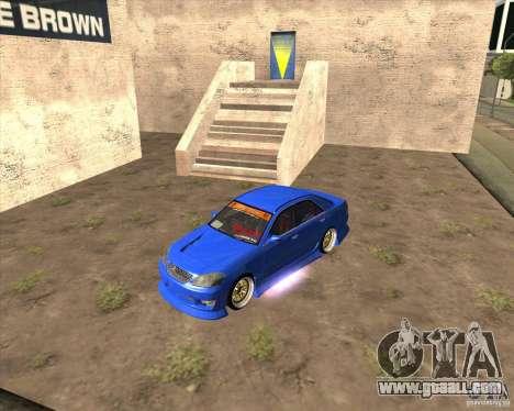 Toyota JZX110 make 2 for GTA San Andreas