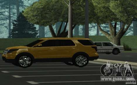 Ford Explorer Limited 2013 for GTA San Andreas left view