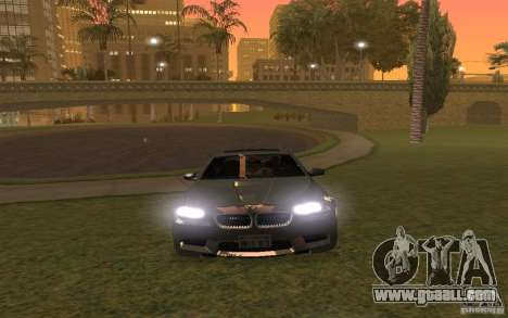 BMW M5 for GTA San Andreas bottom view