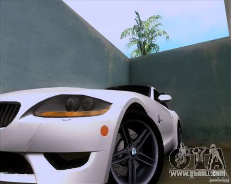 BMW Z4 M Coupe for GTA San Andreas inner view