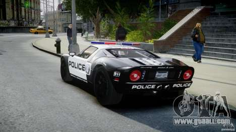 Ford GT1000 Hennessey Police 2006 [EPM][ELS] for GTA 4 back left view