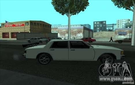 Civilian Police Car LV for GTA San Andreas bottom view