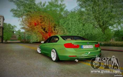 BMW 3 Series F30 Stanced 2012 for GTA San Andreas back left view