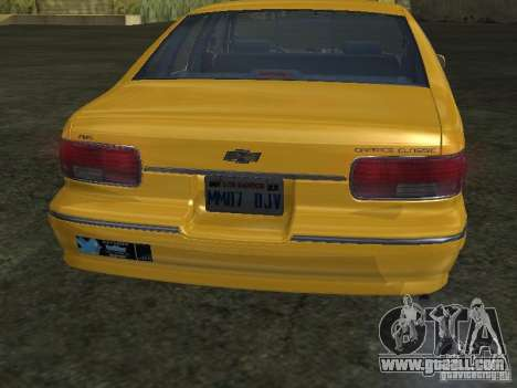 Chevrolet Caprice 1993 Taxi for GTA San Andreas right view