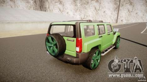 Hummer H3 for GTA 4 upper view