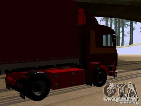 Scania 143M for GTA San Andreas back left view