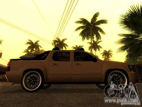 Chevrolet Avalanche Tuning for GTA San Andreas right view
