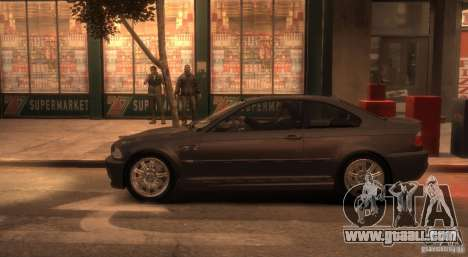 BMW M3 E46 for GTA 4 left view