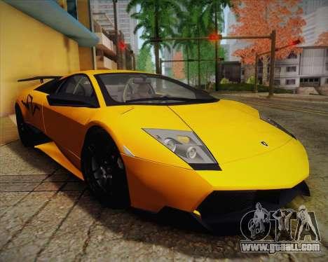 Lamborghini Murcielago LP 670/4 SV Fixed Version for GTA San Andreas inner view