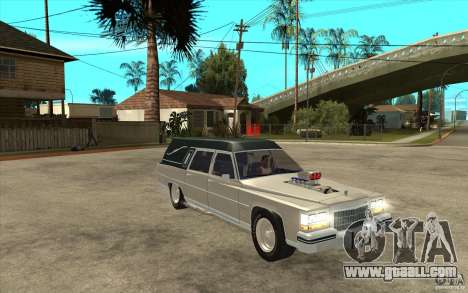 Cadillac Fleetwood 1985 Hearse Tuned for GTA San Andreas back view