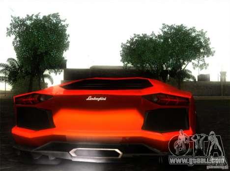 Lamborghini Aventador LP700 for GTA San Andreas left view