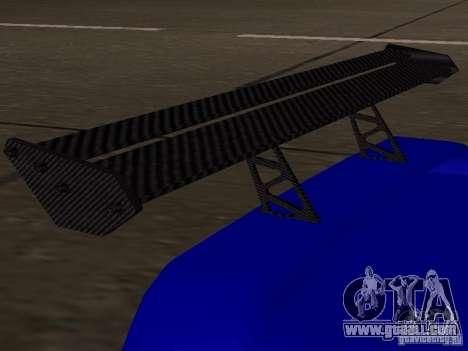 Infernus v 1.2 for GTA San Andreas back view