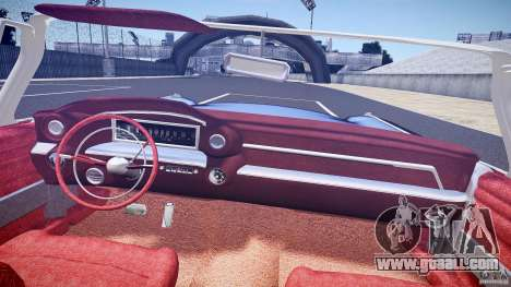 Cadillac Eldorado 1959 interior red for GTA 4 bottom view