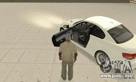 BMW M3 2008 Convertible Hamann for GTA San Andreas back view
