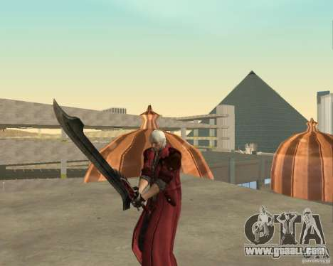 Nero sword from Devil May Cry 4 for GTA San Andreas