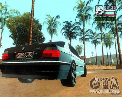 BMW 740i for GTA San Andreas right view