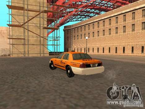 Ford Crown Victoria San Francisco Cab for GTA San Andreas right view
