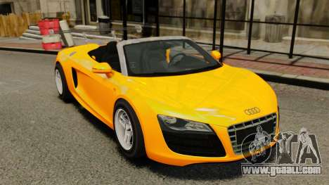 Audi R8 Spyder for GTA 4