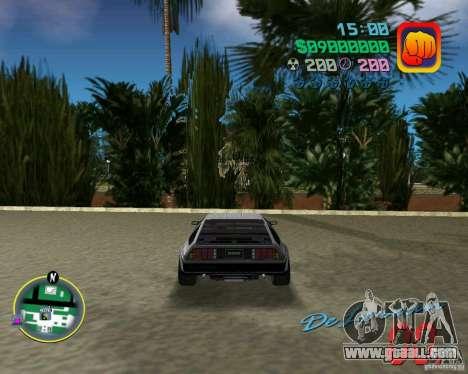 DeLorean DMC 12 for GTA Vice City inner view