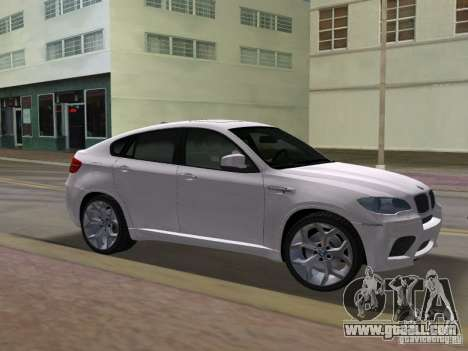 BMW X6M for GTA Vice City back view
