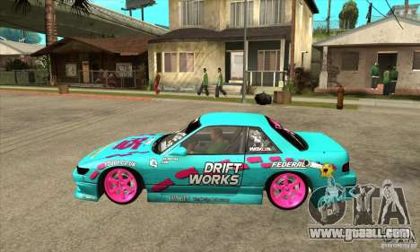 Nissan Silvia S13 Drift Works for GTA San Andreas left view
