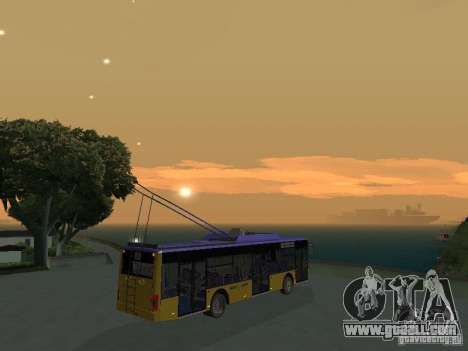 Trolleybus LAZ e-183 for GTA San Andreas inner view