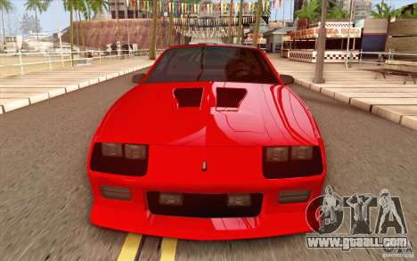 Chevrolet Camaro Z28 Targa Top 1986 for GTA San Andreas inner view
