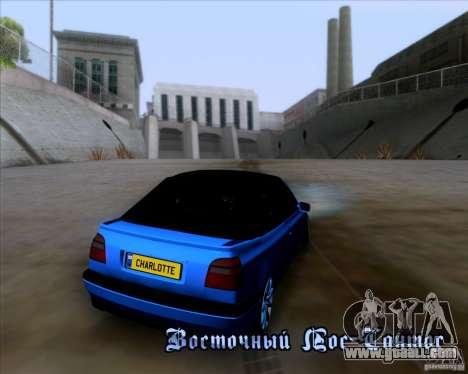 Volkswagen Golf III for GTA San Andreas upper view