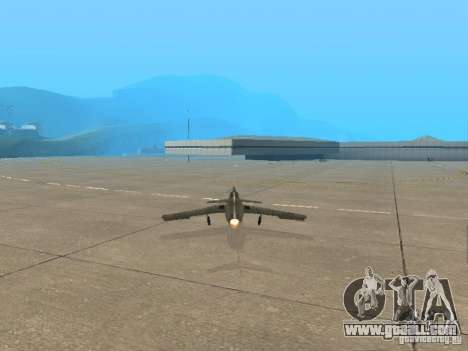 MiG 15 with weapons for GTA San Andreas back left view