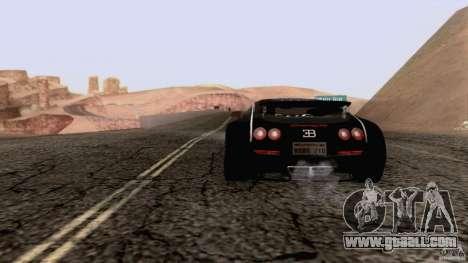 Bugatti ExtremeVeyron for GTA San Andreas left view