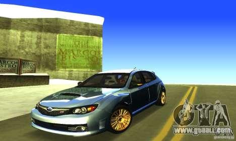 Subaru Impresa WRX STI 2008 for GTA San Andreas