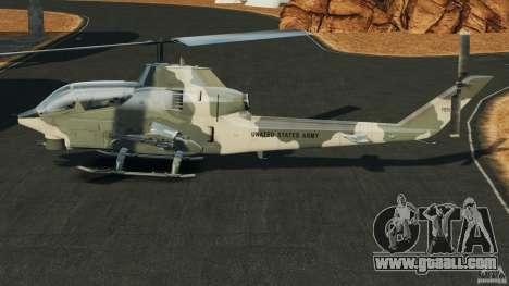 Bell AH-1 Cobra for GTA 4 left view