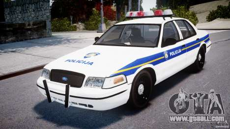 Ford Crown Victoria Croatian Police Unit for GTA 4