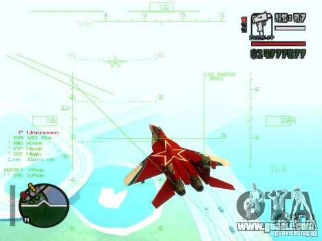 MIG 29 OVT for GTA San Andreas