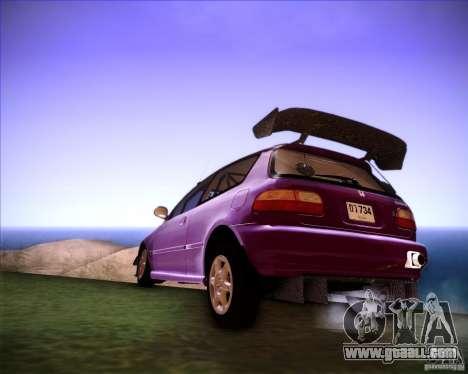 Honda Civic 1994 for GTA San Andreas left view