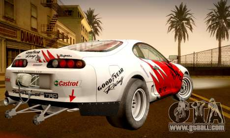 Toyota Supra JZA80 RZ Dragster for GTA San Andreas inner view