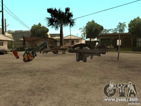 Weapons for GTA San Andreas