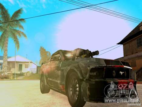 Ford Mustang Death Race for GTA San Andreas inner view