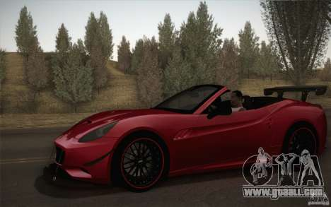 Ferrari California for GTA San Andreas side view