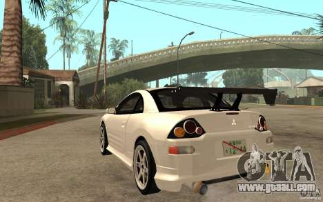 Mitsubishi Eclipse 2003 V1.5 for GTA San Andreas back left view