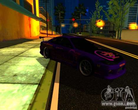 Nissan Silvia C-West for GTA San Andreas back left view