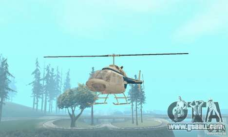Bell 206B JetRanger II for GTA San Andreas right view
