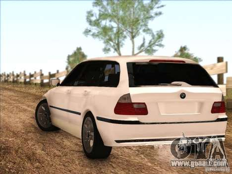 BMW M3 E46 Touring for GTA San Andreas back left view